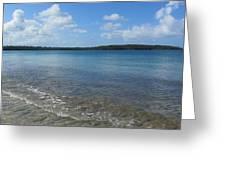 Beach Waves Wide Greeting Card