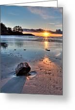Beach Wood Chunk Greeting Card