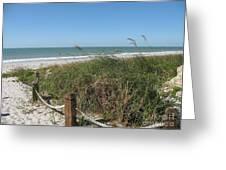 Beachaccess Greeting Card