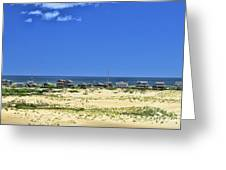 Beachouses As Seen From Jockey's Ridge State Park Greeting Card
