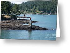 Beacon At Snug Cove Greeting Card