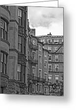 Beacon Hill In Black And White Greeting Card