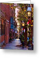Beacon Hill Streets Greeting Card by Joann Vitali