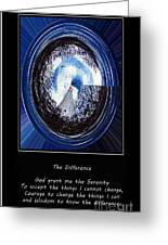 Beacon Of Hope - Serenity Prayer Greeting Card