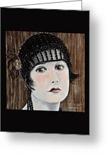 Beaded Flapper Hat Greeting Card