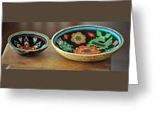Beaded Indian Baskets Greeting Card