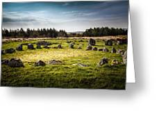 Beaghmore Stone Circles Greeting Card