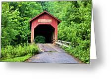 Bean Blossom Covered Bridge Greeting Card