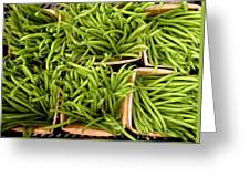 Beans Of Green Greeting Card