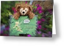 Bear And His Girl Greeting Card