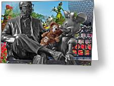 Bear And His Mentors Walt Disney World 03 Greeting Card