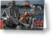 Bear And His Mentors Walt Disney World 05 Greeting Card