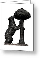 Bear And The Madrono Tree Greeting Card by Fabrizio Troiani