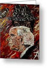 Bear Bryant And Mal Moore  Greeting Card by Mark Moore