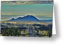 Bear Butte Surreal Greeting Card