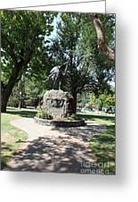 Bear Flag Statue At Sonoma Plaza In Downtown Sonoma California 5d24432 Greeting Card by Wingsdomain Art and Photography