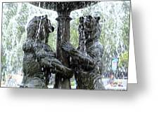 Bear Fountain Greeting Card