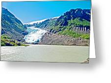 Bear Glacier Near Stewart-british Columbia  Greeting Card