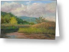 Bear Mountain Bridge From Iona Marsh Greeting Card