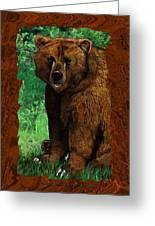 Bear Naked Greeting Card