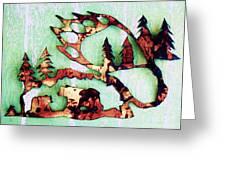 Bear Track 11 Greeting Card