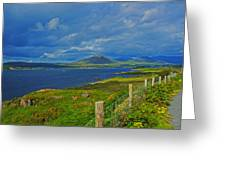 Beara Peninsula West Kerry - On The Road To Lauragh Again Greeting Card
