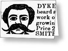 Beard Elixir Ad, 1889 Greeting Card