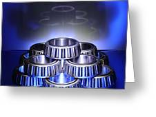 Bearings In Blue Greeting Card