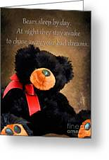 Bears Sleep By Day Greeting Card