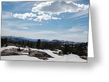 Beartooth Pass Clouds Greeting Card