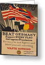 Beat Germany Greeting Card by Adolph Treidler