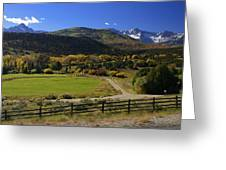 Beatiful Ranch Shot From The Highway Greeting Card