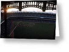 Beatiful View Of Old Yankee Stadium Greeting Card