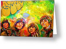 Beatles Rubber Soul Greeting Card