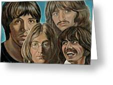 Beatles The Fab Four Greeting Card