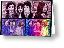 Rainbow Beatles Design Trio Greeting Card