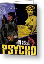 Beauceron Art Canvas Print - Psycho Movie Poster Greeting Card