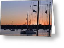 Beaufort Sc Sunset Greeting Card