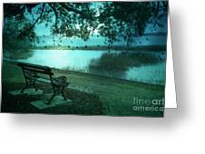Beaufort South Carolina Surreal Ocean Inland Scene Greeting Card by Kathy Fornal