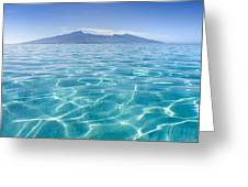 Beauitful Seascape Of Moorea Greeting Card