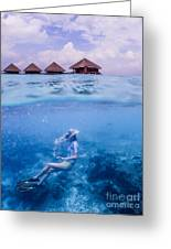 Beautiful Above And Below 2 Greeting Card