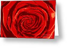 Beautiful Abstract Red Rose Illustration Greeting Card
