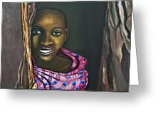Beautiful African Girl Greeting Card
