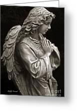 Beautiful Angel Praying Hands Christian Art Print Greeting Card
