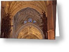 Beautiful Arches Of Seville Cathedral Greeting Card by Viacheslav Savitskiy