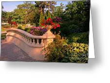 Beautiful Balustrade Fence In Halifax Public Gardens Greeting Card