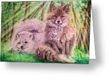 Beautiful Because Fox Alive Greeting Card