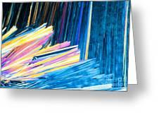 Beautiful Benzoic Acid  Microcrystals Abstract Art Greeting Card