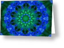 Beautiful Blue Greeting Card by Annette Allman