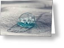 Beautiful Blue Bubble Greeting Card